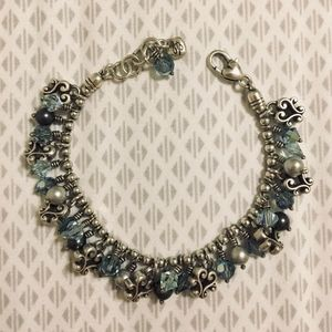 """Brighton """"Cannes Platinum Blue"""" Retired Bracelet"""
